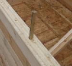 Использование нагелей в строительстве домов из бруса