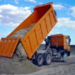 Доставка сыпучих материалов на строительную площадку