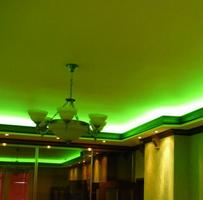 Декорация потолков из гипсокартона при помощи подсветки
