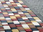Покраска фигурной тротуарной плитки