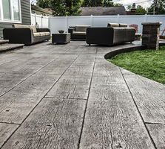 Печатный бетон для веранды и террасы