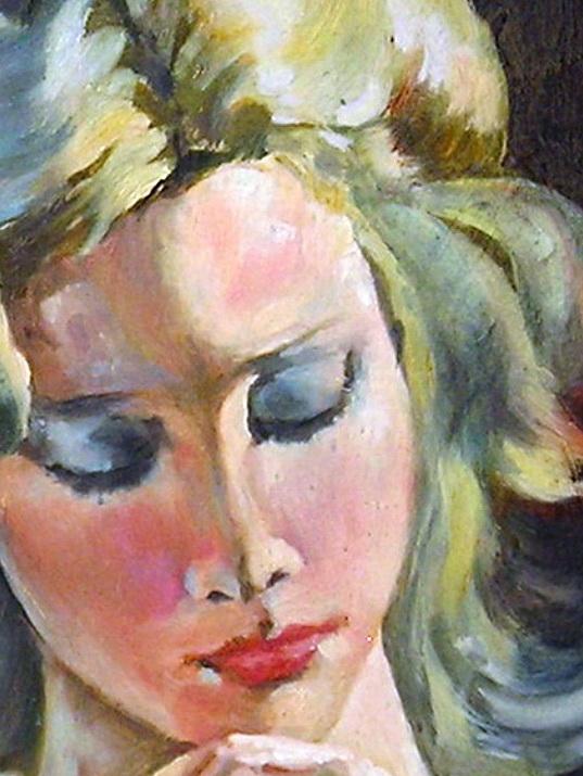 Портрет девушки с цветком. Вид 2