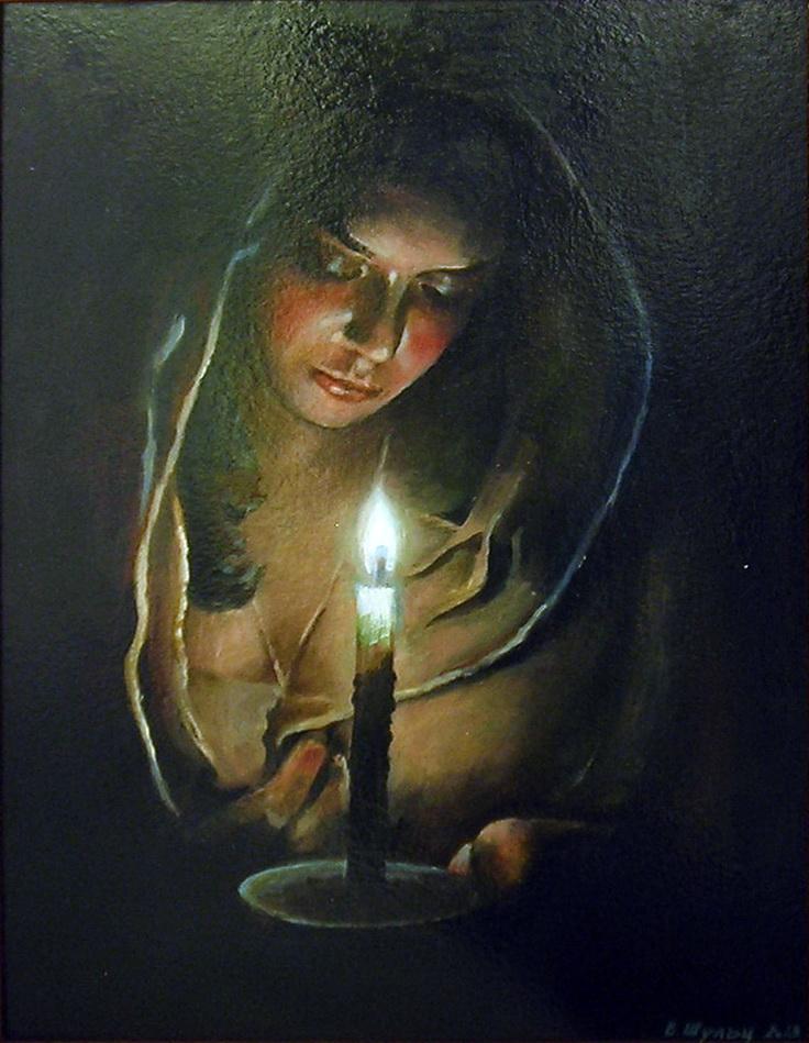 Портрет девушки со свечой. Вид 1