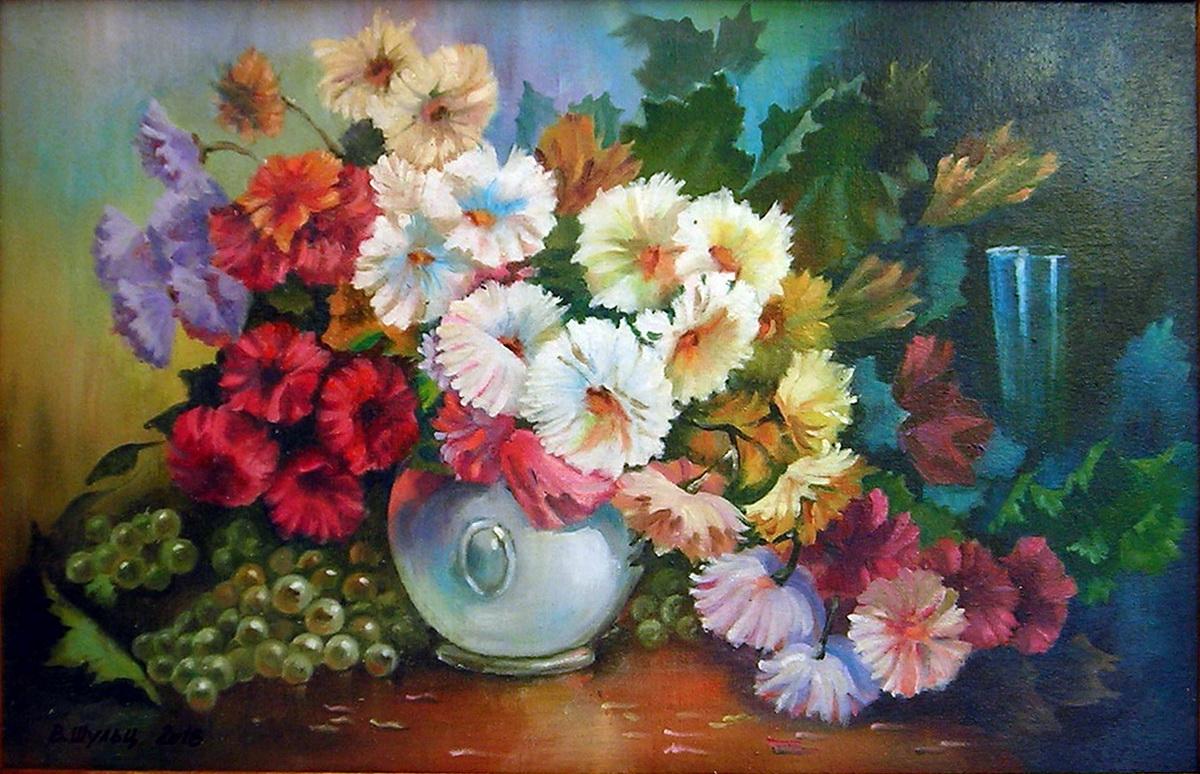 Натюрморт с цветами. Вид 1