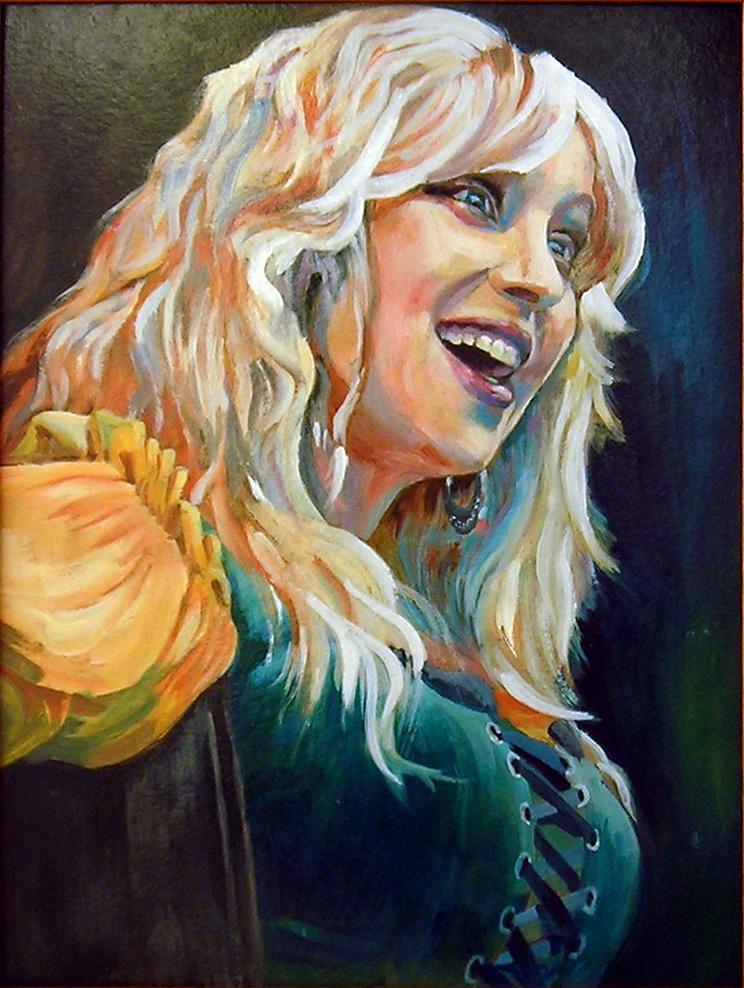 Портрет певицы. Вид 1