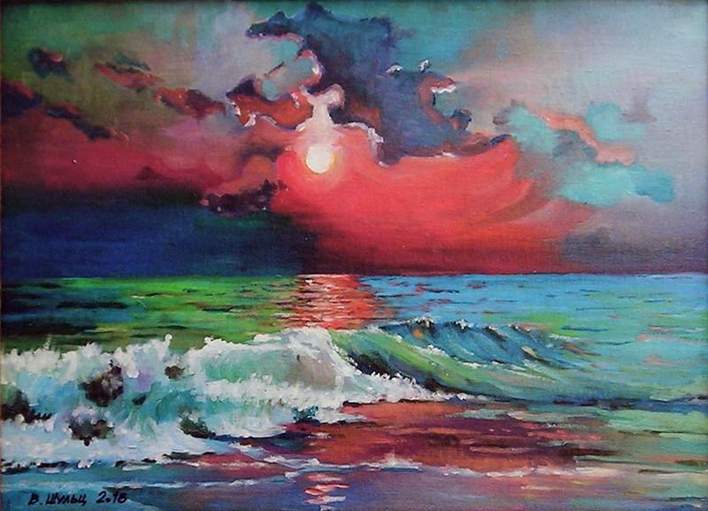 Море. Закат. Вид 1
