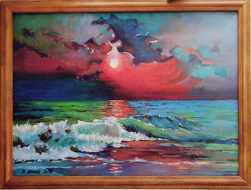 Море. Закат. Вид 2
