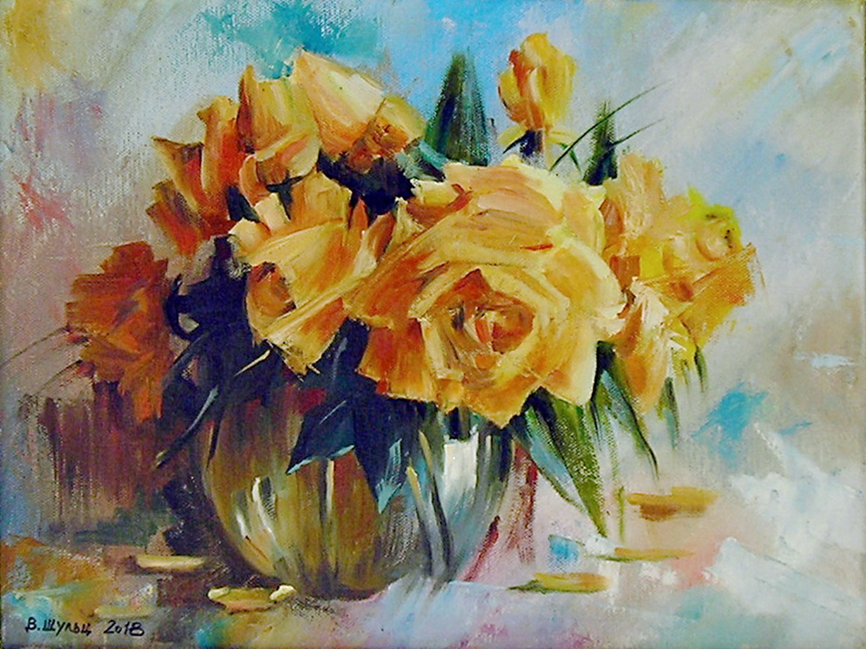 Букет желтых роз. Вид 1