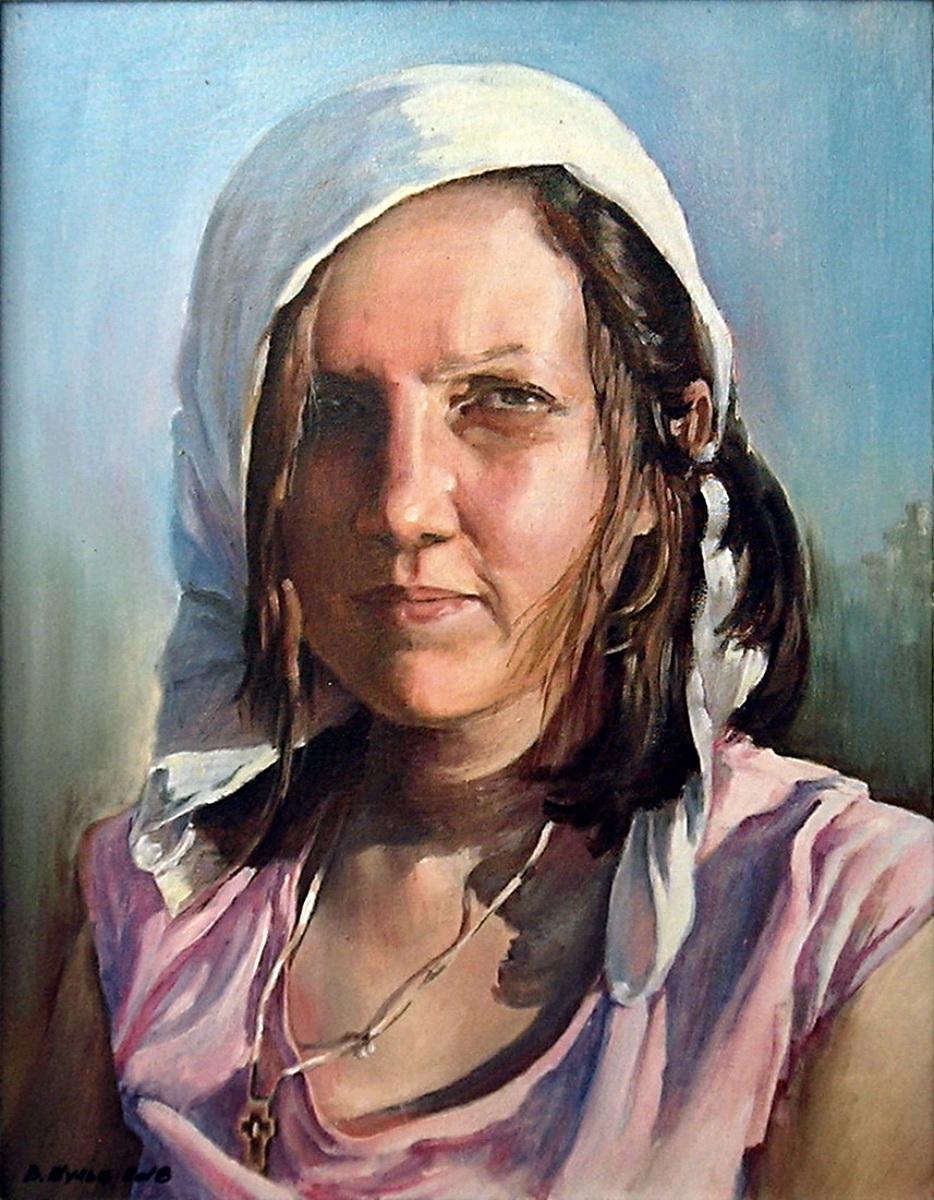 Портрет дочери на даче. Вид 1
