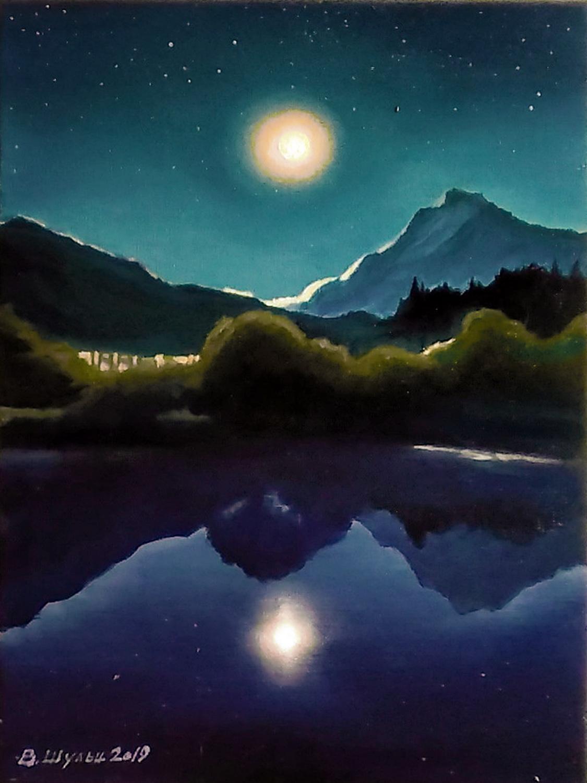 Лунная ночь. Вид 1