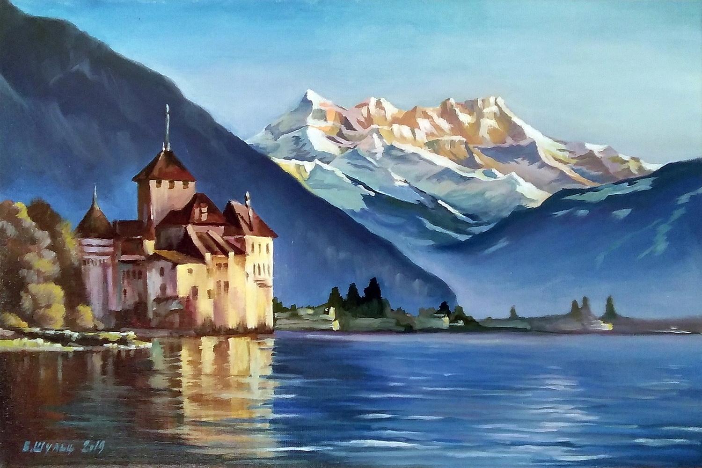 Швейцарский пейзаж. Вид 1