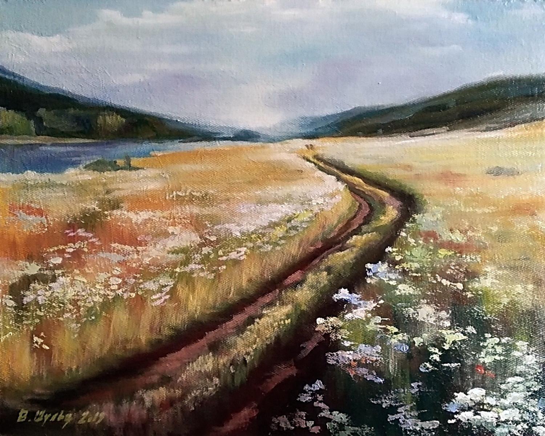 Дорога в поле. Вид 1