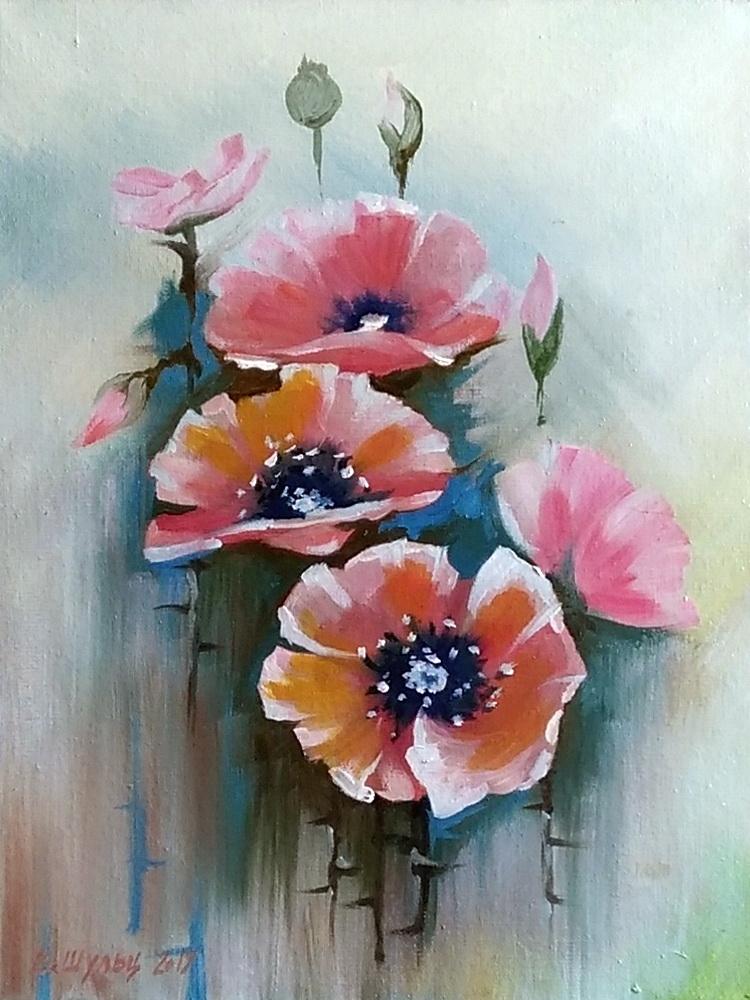 Цветы. Маки. Вид 1