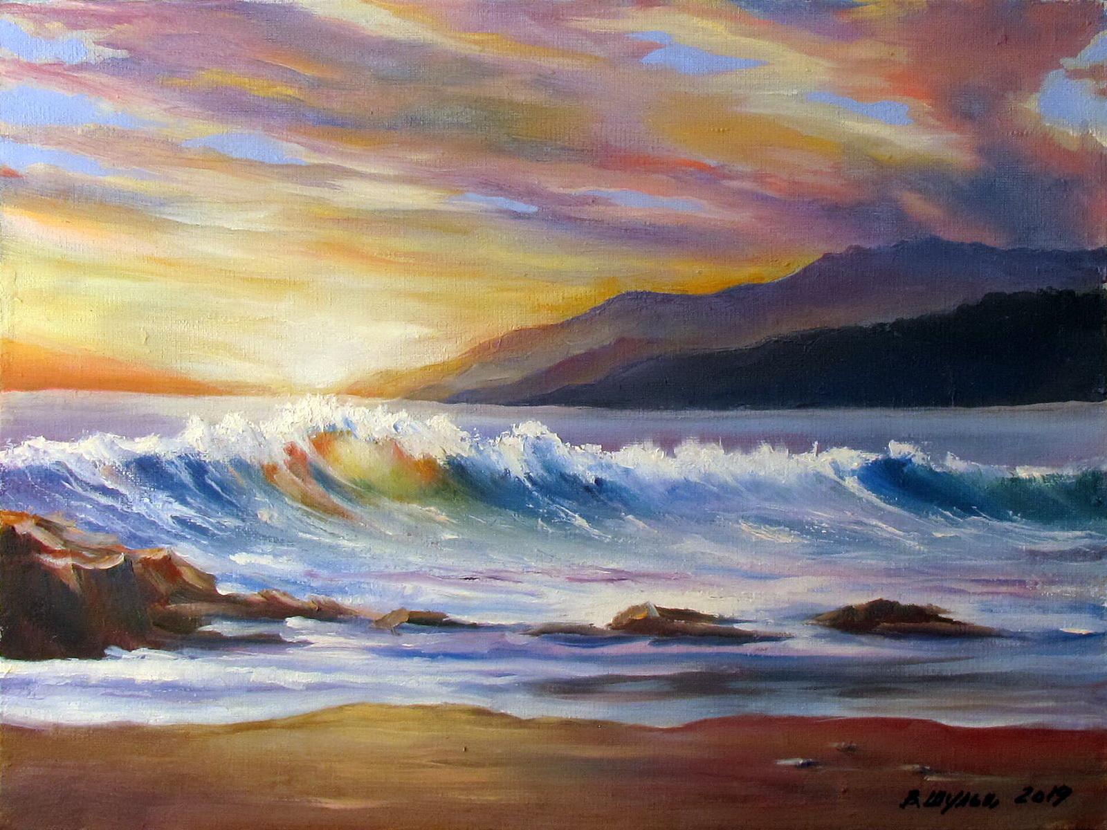 Море. Волна. Вид 1
