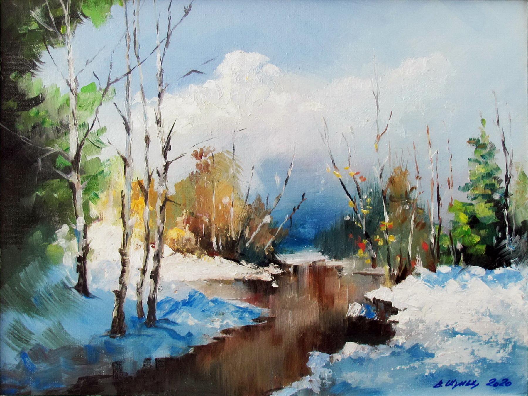 Зима в лесу. Вид 1