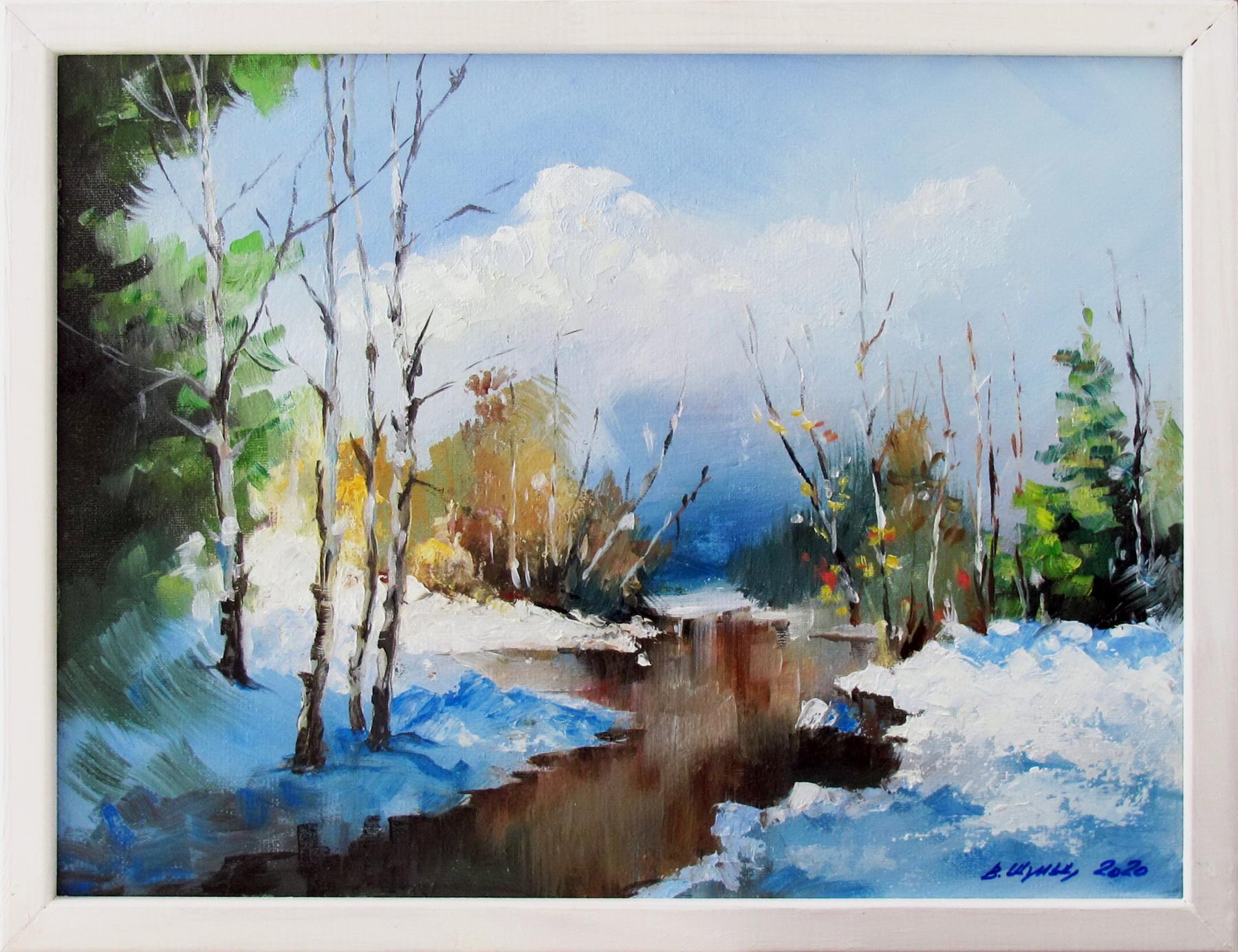 Зима в лесу. Вид 2