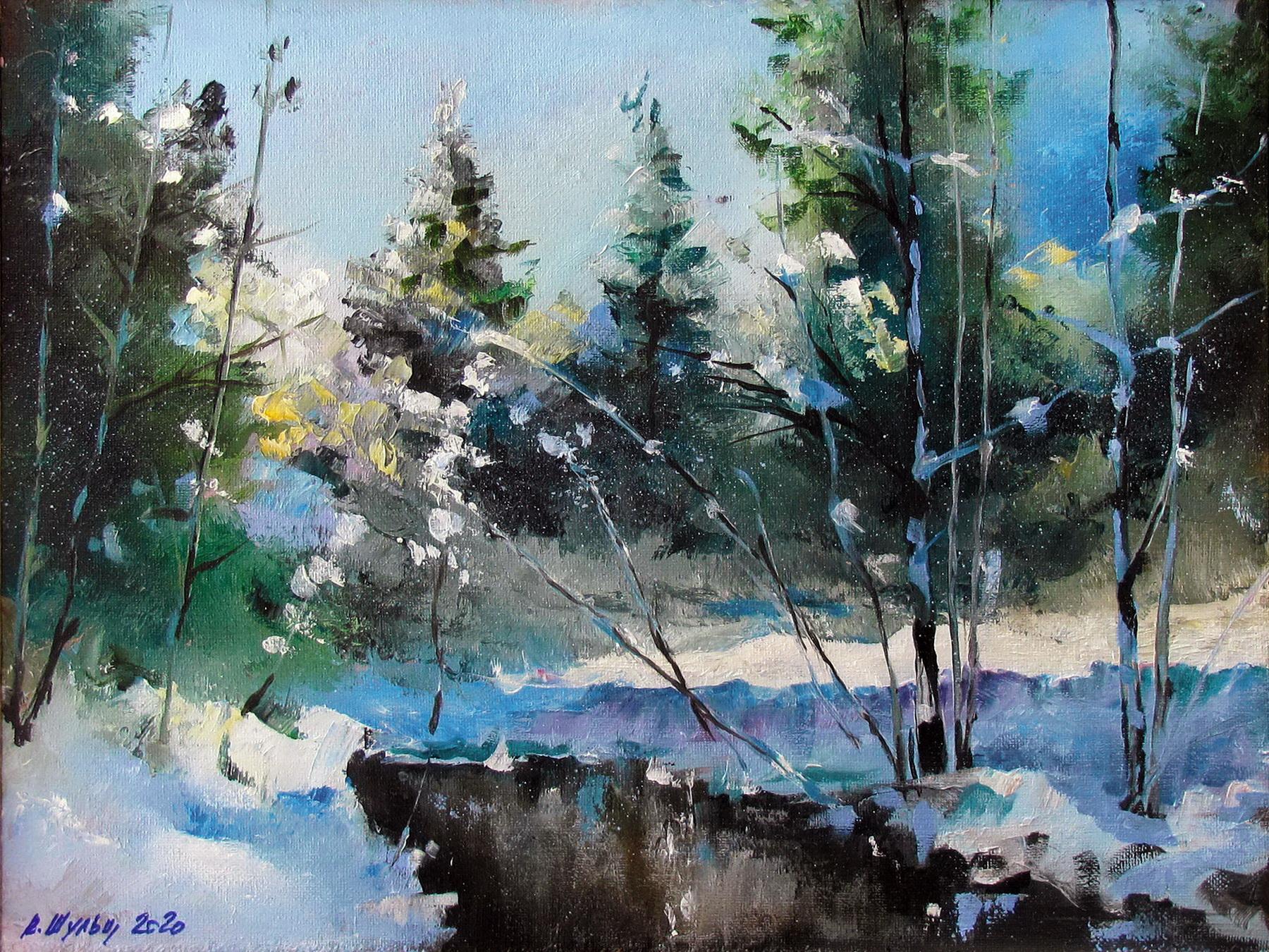 Зимний лес. Вид 1