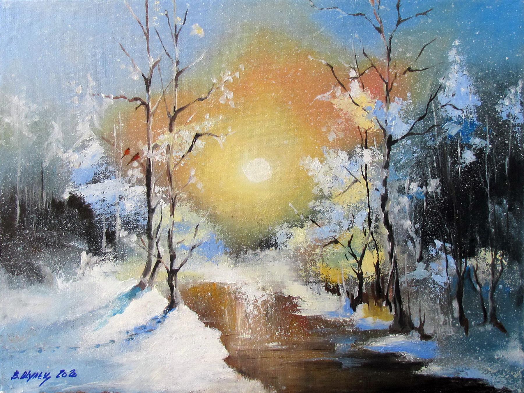 Зимний лес. Утро. Вид 1