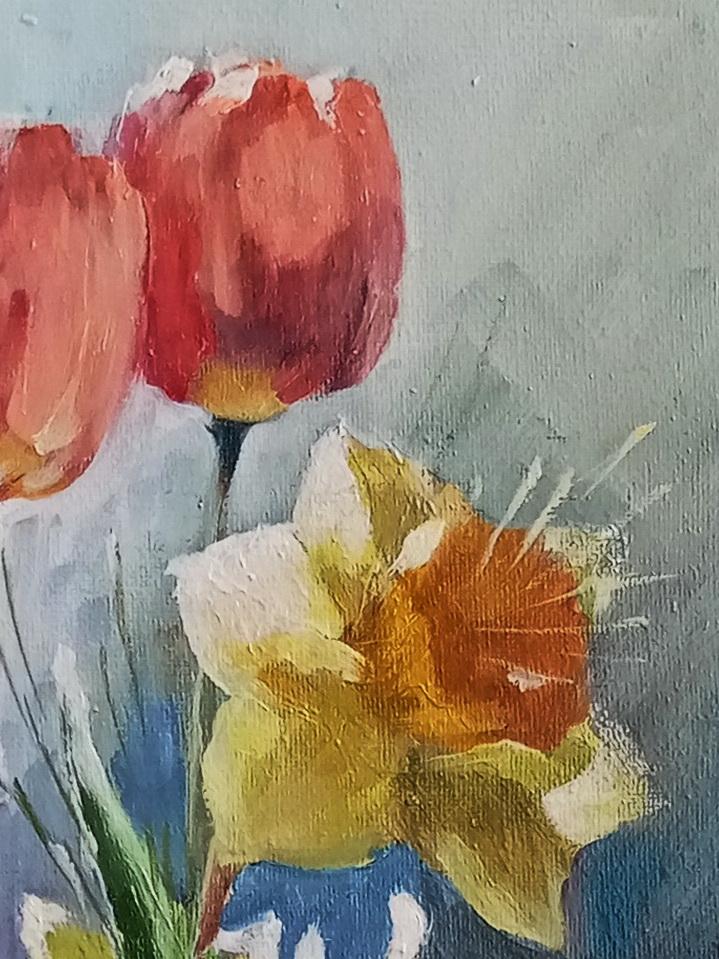 Тюльпаны с нарциссами. Вид 3