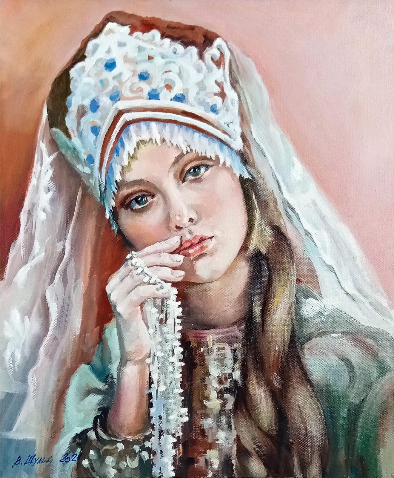 Русская девушка. Вид 1