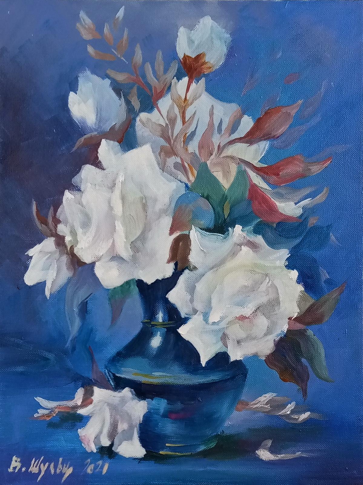 Белые розы. Вид 1