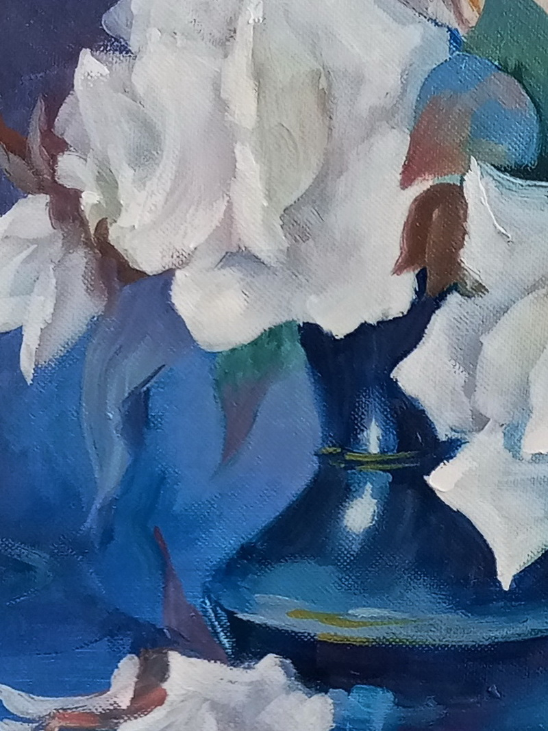 Белые розы. Вид 3