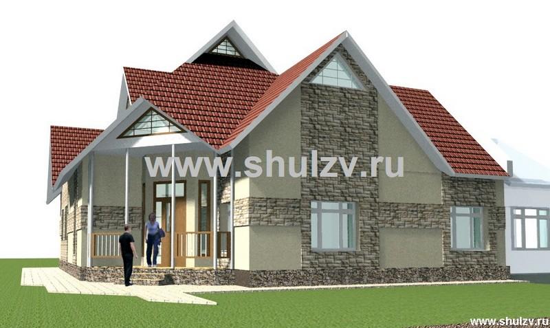 Реконструкция 1/2 жилого дома. Одноэтажный пятикомнатный жилой дом