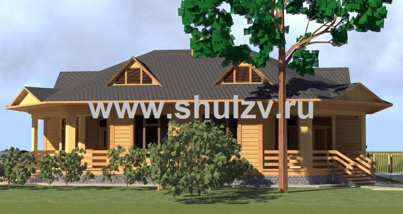 Одноэтажный двухквартирный жилой дом (бунгало)