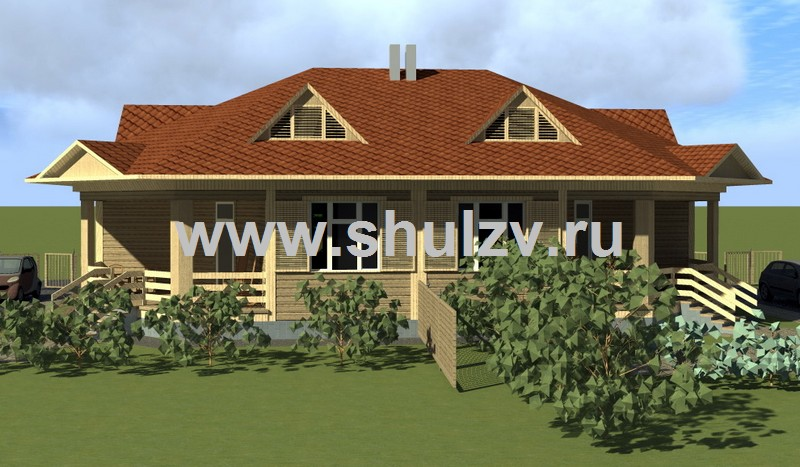 Одноэтажный двухквартирный жилой дом сезонного проживания (бунгало)