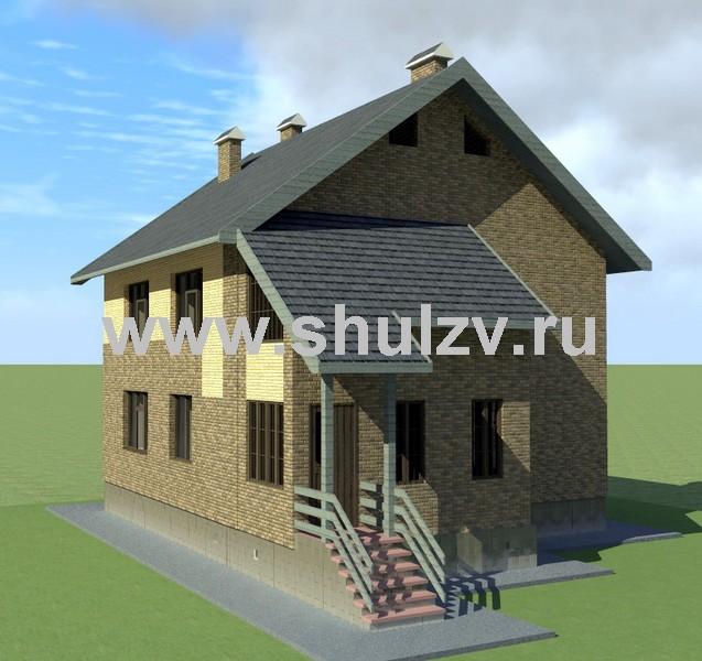 Двухэтажный пятикомнатный жилой дом