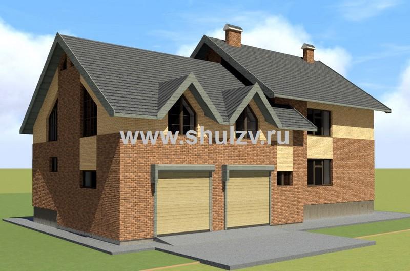 Двухэтажный 7-комнатный жилой дом с подвалом и гаражом на 2 машины