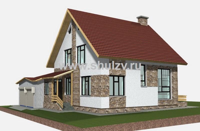 Двухэтажный 5-комнатный жилой дом с хозяйственными постройками
