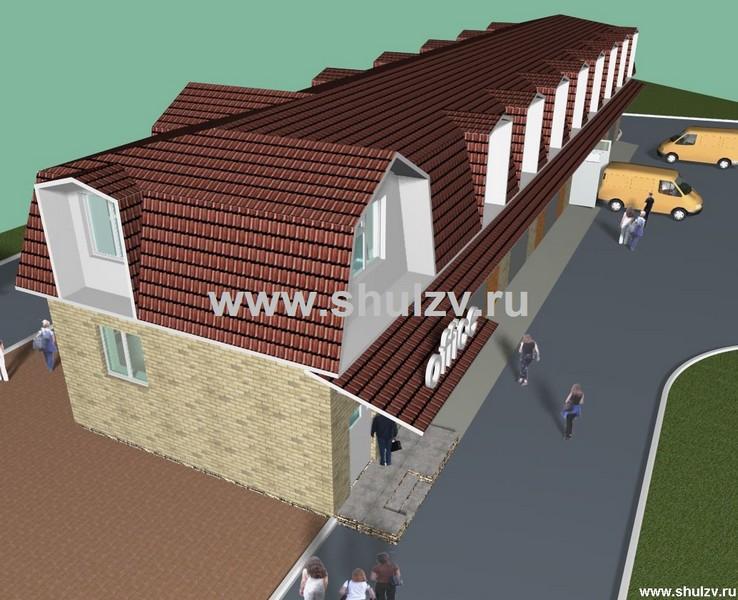 Административное здание со складами.